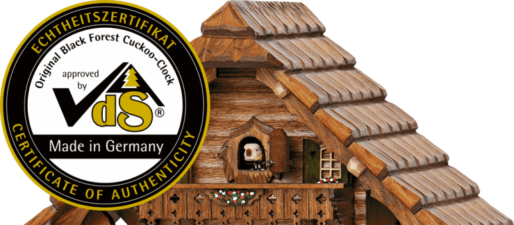 Certificate genuine Black Forest cuckoo clock